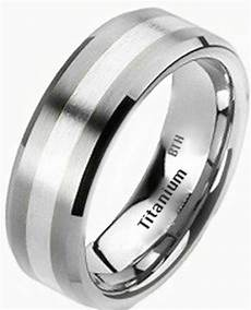 new mens 925 sterling silver and titanium wedding