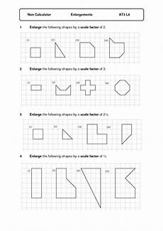 scale factor enlargement lesson plans worksheets