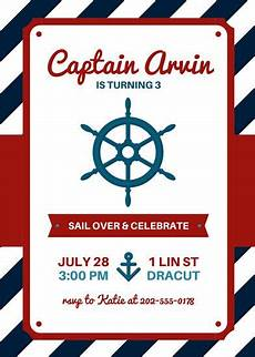 nautical birthday card template customize 79 nautical invitation templates canva