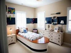 chic nautical themed bedroom with cream wall paint color scheme feat unique wooden furniture and