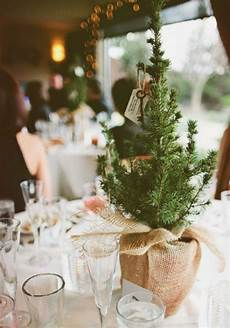 7 christmas tree inspired winter wedding decoration ideas