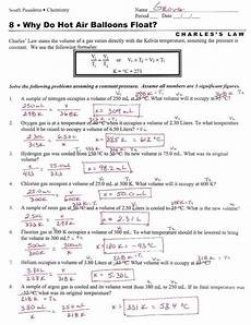 ideal gas law worksheet answer key briefencounters