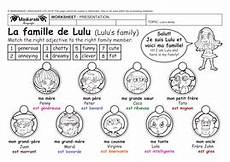 worksheets la famille 18941 y4 5 at school describing my family je d 233 cris ma famille chantons ma famille by