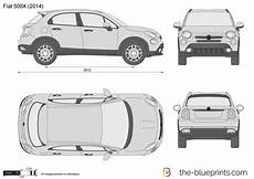 The Blueprints Vector Drawing Fiat 500x
