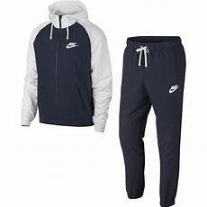 Surv 234 Tement Nike Sportswear Warm Up Blanc Bleu Footkorner