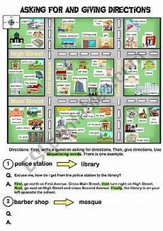 giving directions worksheets islcollective 11706 asking for and giving directions esl worksheet by al295801