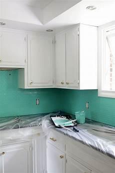 how to paint a tile backsplash a beautiful mess