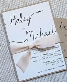 modern wedding invitation simple wedding invitation