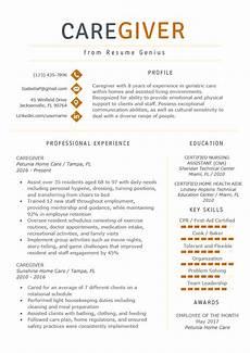 caregiver resume exle writing guide resume genius