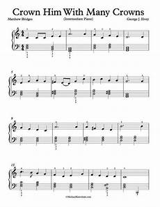 free piano arrangement sheet music crown him with many