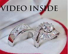 for him and 3 pieces wedding engagement ring platinum made in italy d g ebay