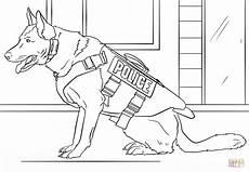 Ausmalbilder Polizei Swat Malowanki Pies K 9 Coloring Page Free