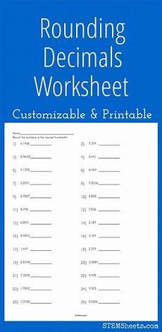 best 25 rounding decimals worksheet ideas on pinterest