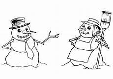 Malvorlage Schneemann Und Schneefrau Malvorlage Schneemann Und Schneefrau Kostenlose