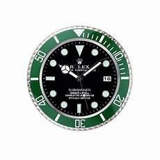 rolex submariner orologio da parete silver verde 621 912