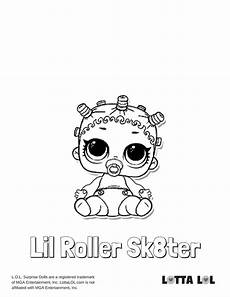 Malvorlagen Mc Unicorn Lil Roller Sk8ter Coloring Page Lotta Lol Coloring Pages