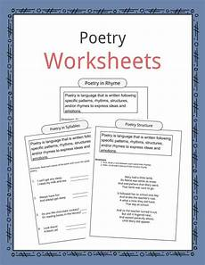 poetry meaning worksheets 25323 poetry worksheets definition exles for