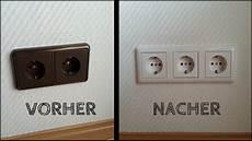 Steckdose Und Schalter Anschließen - steckdosen installation aus 2 mach 3 step by step