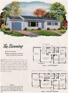 1950s ranch house plans 1950s ranch house floor plans new 1952 national plan