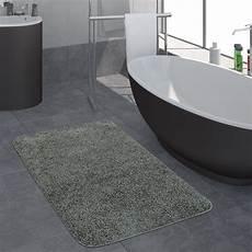 badezimmer teppich badezimmer teppich einfarbig hochflor grau teppich de
