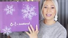 juwelkerze unboxing weihnachtsedition adventskranz winter