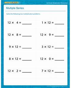 easy multiplication worksheets for 3rd grade 4959 series free printable multiplication worksheet for 3rd grade math blaster