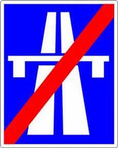 ende einer autobahn autobahn und ende der autobahn verkehrszeichen autobahn