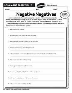 double negatives lesson plans worksheets reviewed by teachers