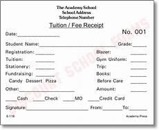 tuition fee receipt school forms