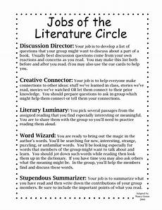 literature circles worksheets 187 literature circle handouts not my work 2nd 6th grade jake dury