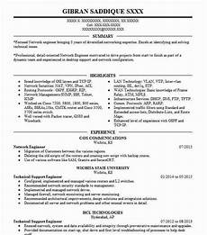 resume of a network enginer network engineer resume sle technical resumes livecareer