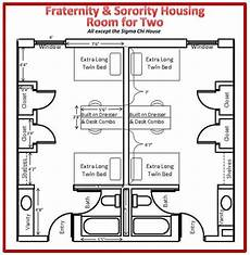 fraternity house plans fraternity sorority floor plan room for 2 usahousing