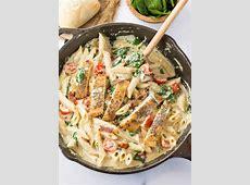 creamy garlic penne pasta_image