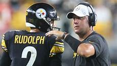 steelers make it official rudolph out of concussion breaking the steelers offense for including
