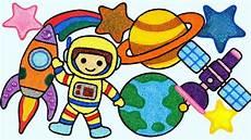 Astronaut Rocket Menggambar Tingkatkan