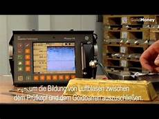 ultraschall reinigungsgerät test der goldmoney standard ultraschall goldbarren test