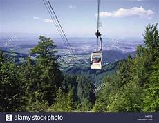 baden auto freiburg germany baden wurttemberg schauinsland cable car view