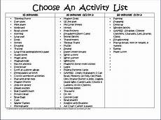 activity list checklist of daily tasks for early childhood teacher