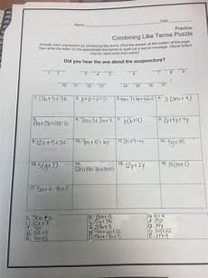 algebra worksheets combining like terms 8345 mrs white s 6th grade math december 2015