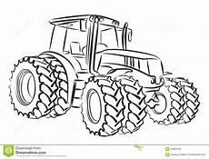 Deere Malvorlagen Xl Tractor Vector Illustratie Illustratie Bestaande Uit