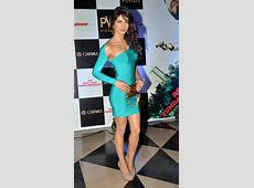 Priyanka Chopra Showcasing Her Stunning Figure In Blue