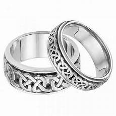 wedding rings his and hers celtic wedding band in 14k