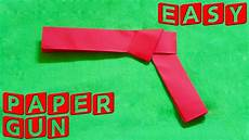 how to make a paper gun easy paper gun youtube