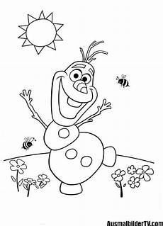 malvorlagen olaf der schneemann