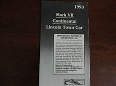 auto repair manual free download 1990 lincoln continental mark vii interior lighting 1990 lincoln continental town car mark vii maintenance owners manual supplement ebay