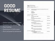 good resumes versus bad resumes