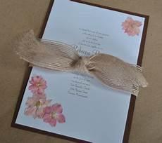 diy pink and brown wedding invitations