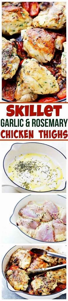 skillet garlic and rosemary chicken thighs easy and