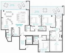 condominium house plans 3 bedrooms 3 5 baths den condo floor plans house