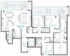 condominium house plans 3 bedrooms 3 5 baths den condo floor plans house
